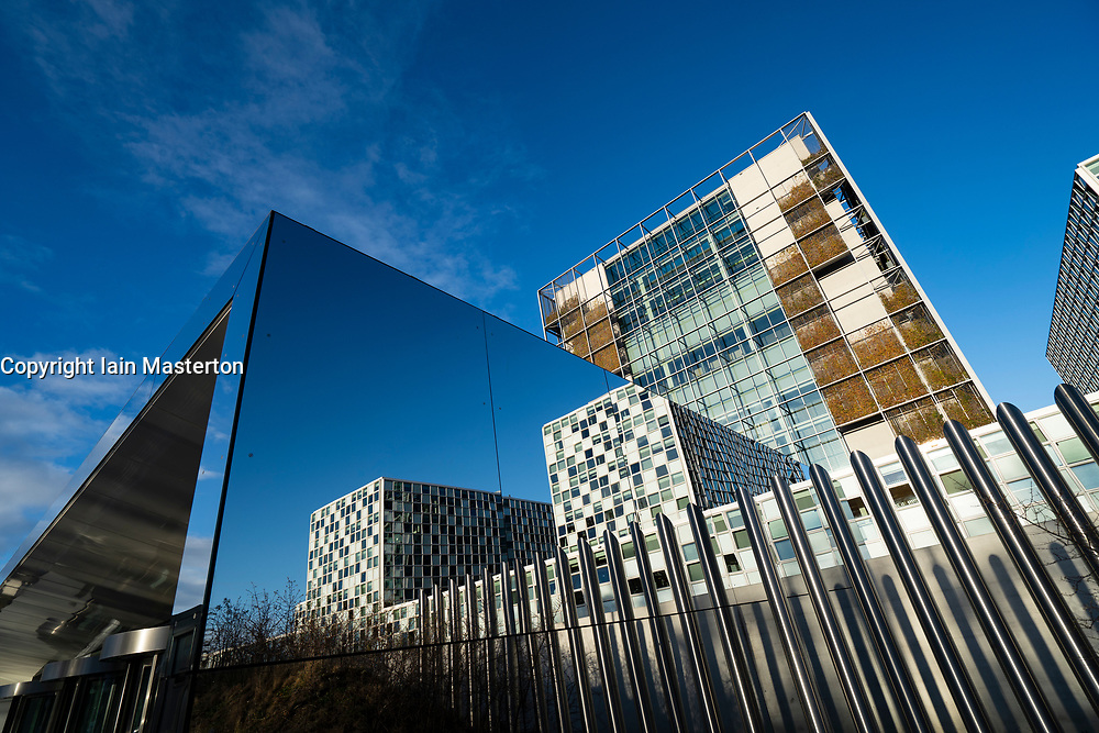 The new headquarters of the International Criminal Court , ICC, in The Hague, The Netherlands