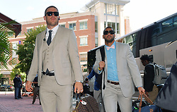 The Philadelphia Eagles arrive at the Westin Hotel the day before playing the Washington Redskins on September 9, 2017 in Arlington, Virginia.  (Photo by Drew Hallowell/Philadelphia Eagles)