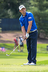 August 9, 2018 - Town And Country, Missouri, U.S - JIMMY WALKER From Boerne Texas, USA lines up his tee shot on the 13th hole during round one of the 100th PGA Championship on Thursday, August 8, 2018, held at Bellerive Country Club in Town and Country, MO (Photo credit Richard Ulreich / ZUMA Press) (Credit Image: © Richard Ulreich via ZUMA Wire)
