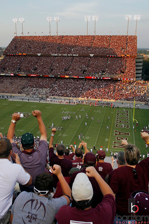 Texas A&M University fans cheer as the Aggies play against Montana State on Saturday, Sept. 1, 2007 at Kyle Field in College Station, TX. Texas A&M won the game 38-7.