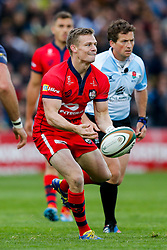Bristol Rugby Scrum-Half Dwayne Peel (capt) - Photo mandatory by-line: Rogan Thomson/JMP - 07966 386802 - 27/05/2015 - SPORT - Rugby Union - Worcester, England - Sixways Stadium - Worcester Warriors v Bristol Rugby - Greene King IPA Championship Play-Off Final 2nd Leg.