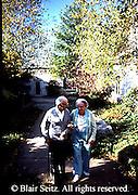 Active Aging Senior Citizens, Retired, Activities, Retirement Community, Outdoor Gardens