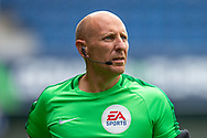 Referee Andy Davies before the EFL Sky Bet Championship match between Queens Park Rangers and Barnsley at the Kiyan Prince Foundation Stadium, London, England on 20 June 2020.