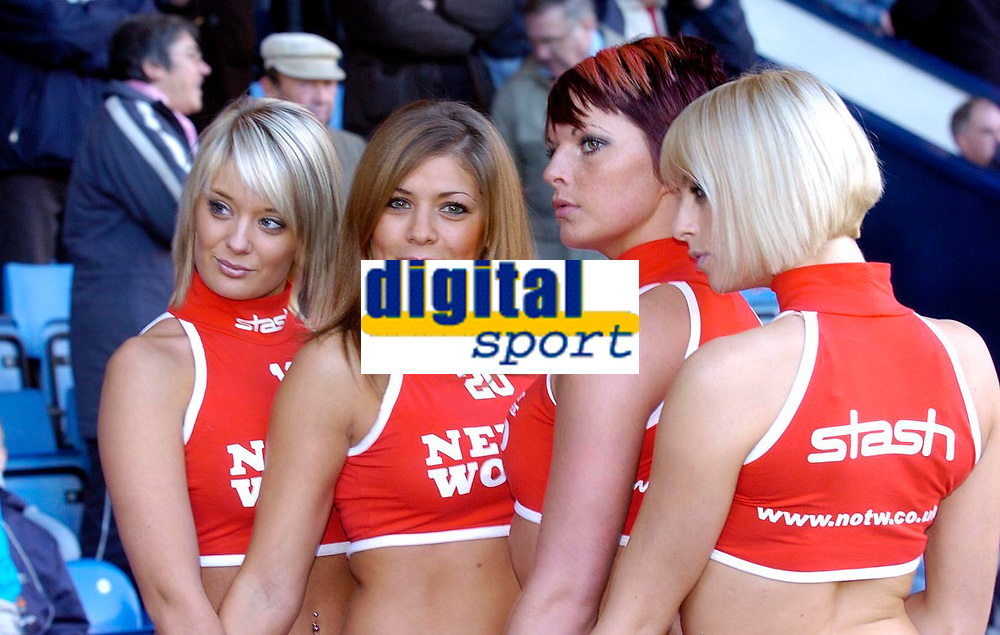 Photo: Leigh Quinnell.<br /> West Bromwich Albion v Coventry City. Coca Cola Championship. 16/12/2006. The news of the World girls warm up the crowd before the game.