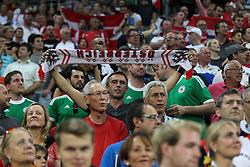 06.09.2013, Allianz Arena, Muenchen, GER, FIFA WM Qualifikation, Deutschland vs Oesterreich, Rueckspiel, im Bild Fans (Oesterreich) mit Schal, Fahne, // during the FIFA World Cup Qualifier second leg Match between Germany and Austria at the Allianz Arena, Munich, Germany on 2013/09/06. EXPA Pictures © 2013, PhotoCredit: EXPA/ Eibner/ Christian Kolbert<br /> <br /> ***** ATTENTION - OUT OF GER *****