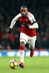 November 29, 2017 - London, England, United Kingdom - Arsenal's Alexandre Lacazette..during Premier League match between\ar9 Arsenal and Huddersfield Town at Emirates Stadium, London,  England on 29 Nov   2017. (Credit Image: © Kieran Galvin/NurPhoto via ZUMA Press)