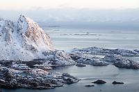Coast landscape, Lofoten, Norway