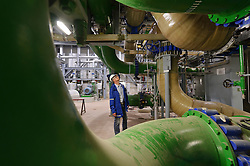 An RWE employee works at the gas burning power plant, in Lingen, Germany, on Tuesday, Sept. 6, 2011. (Photo © Jock Fistick)