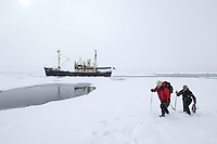 """Expedition ship """"Stockholm""""<br /> Pack ice<br /> Svalbard<br /> Norway"""