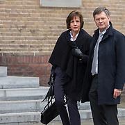 NLD/Rotterdam/20180220 - Herdenkingsdienst Ruud Lubbers, Jan Peter Balkenende en partner Bianca Hoogendijk