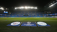 General view of  Champions League branding during the Champions League Group C match at the Etihad Stadium, Manchester. Picture date: December 6th, 2016. Pic Simon Bellis/Sportimage