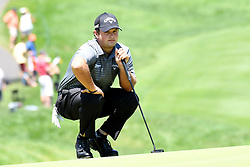 June 24, 2017 - Cromwell, Connecticut, U.S - Patrick Reed lines up a putt during the third round of the Travelers Championship at TPC River Highlands in Cromwell, Connecticut. (Credit Image: © Brian Ciancio via ZUMA Wire)