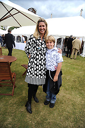 MISTI BELL and her son SEBASTIAN BELL at the Cartier Style et Luxe, the Goodwood Festival of Speed, West Sussex on 13th July 2008.<br /> <br /> NON EXCLUSIVE - WORLD RIGHTS