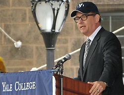 Tom Hanks gives Yale University Commencement Speech on Old Campus during Class Day Ceremonies. 22 May 2011, New Haven, CT