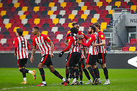 Football - 2020 / 2021 Sky Bet (EFL) Championship - Brentford vs. Wycombe Wanderers  - Brentford Community Stadium<br /> <br /> Ivan Toney (Brentford  FC) congratulates Tariqe Fosu (Brentford  FC) for scoring Brentford's second goal<br /> <br /> COLORSPORT/DANIEL BEARHAM