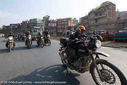 Cool Beans Chris Marino riding a Royal Enfield Himalayan in Motorcycle Sherpa's Ride to the Heavens motorcycle adventure in the Himalayas of Nepal. Riding from Daman back to Kathmandu. Wednesday, November 13, 2019. Photography ©2019 Michael Lichter.