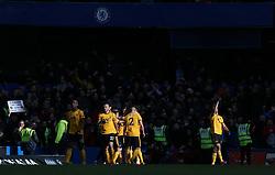 Raul Jimenez of Wolverhampton Wanderers celebrates scoring to make it 0-1 - Mandatory by-line: Arron Gent/JMP - 10/03/2019 - FOOTBALL - Stamford Bridge - London, England - Chelsea v Wolverhampton Wanderers - Premier League