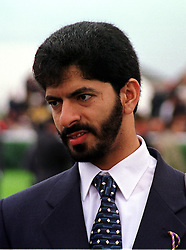 SAEED BIN SUROOR the leading racehorse trainer, at a race meeting in Berkshire on 19th September 1999.MWM 34