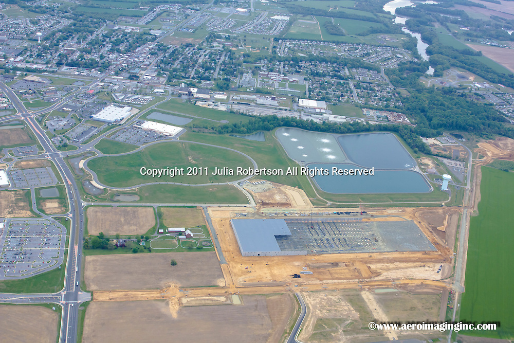 Aerial views of Auto Mall, Amazon, Johnson Controls in Middletown, Delaware
