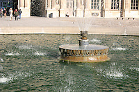 Fountain at the Louvre museum, Paris, France<br />
