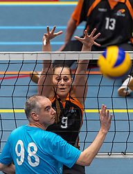 20-04-2019 NED: Dirk Kuyt Foundation Cup, Veenendaal<br /> National Cup sitting volleyball in Veenendaal / Allvo, Elvira Stinissen