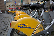 Be Velo bicycle hire in Brussels, Belgium. The Brussels-Capital Region is a region of Belgium comprising 19 municipalities, including the City of Brussels.