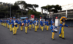 An Italian marching band outside the ground before the Guinness Six Nations match at The Stadio Olimpico, Rome.