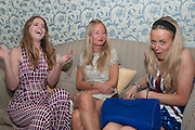 KATIE REDMAN; MARTHA WARD; ASTRID HARBORD, Tatler magazine Jubilee party with Thomas Pink. The Ritz, Piccadilly. London. 2 May 2012