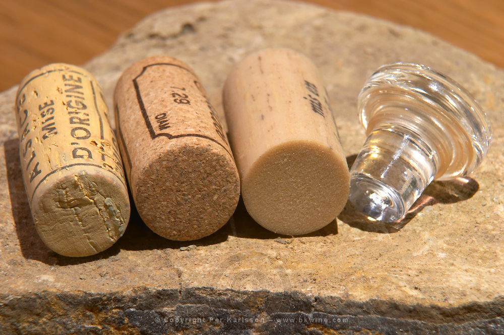 Corks and stoppers of various types dom pfister dahlenheim alsace france
