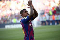 August 15, 2018 - Barcelona, Spain - Malcom during the presentation of the team 2018-19 before the match between FC Barcelona and C.A. Boca Juniors, corresponding to the Joan Gamper trophy, played at the Camp Nou, on 15th August, 2018, in Barcelona, Spain. (Credit Image: © Joan Valls/NurPhoto via ZUMA Press)