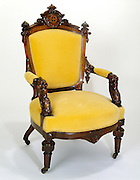 antique yellow chair