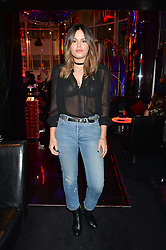 ATLANTA de CADENET TAYLOR at Rock The Empire - a party hosted by Alexa Chung to celebrate the launch of W Beijing - Chang'an held at the Wyld Bar, W London, Leicester Square, London on 19th February 2015.