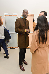 OZWALD BOATENG at a private view of Refraction. The Image of Sense held at Blain Southern, Hanover Square, London on 9th December 2014.