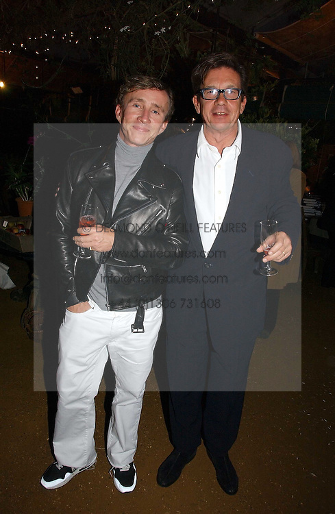 Left to right, JASPER CONRAN and the owner of the Petersham Nurseries FRANCESCO BOGLIONE at a party to celebrate the publication on 'A Year in My Kitchen' by Skye Gyngell held at The Petersham Nurseries, Petesham, Surrey on 19th October 2006.<br /><br />NON EXCLUSIVE - WORLD RIGHTS