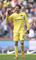 BILDET INNGÅR IKEK I FASTAVTALER. ALL NEDLASTING BLIR FAKTURERT.<br /> <br /> Fotball<br /> Tyskland<br /> Foto: imago/Digitalsport<br /> NORWAY ONLY<br /> <br /> Herthas Torwart Rune Almenning JARSTEIN bejubelt den Treffer zum 3-0. Fussball 1.Bundesliga - Saison 2015/2016, 8.Spieltag: Hertha BSC Berlin - Hamburger SV in Berlin, Deutschland am 03.10.2015,
