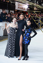 Kristen Stewart, Ella Balinska and Naomi Scott attend the Charlie's Angels UK Premiere in London, 20 November 2019.<br /><br />20 November 2019.<br /><br />Please byline: Vantagenews.com