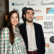 Sponsor Maize & Grace Arrivers at Nina Naustdal catwalk show SS19/20 collection by The London School of Beauty & Make-up at Bagatelle on 26 Feb 2019, London, UK.