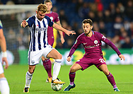 James Morrison of West Bromwich and Benardo Silver of Manchester City in action .Carabao Cup 3rd round match, West Bromwich Albion v Manchester City at the Hawthorns stadium in West Bromwich, Midlands on Wednesday 20th September 2017. pic by Bradley Collyer, Andrew Orchard sports photography.