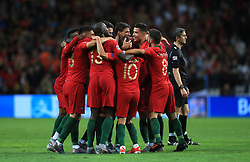 Portugal players celebration after the final whistle during the Nations League Final at Estadio do Dragao, Porto.