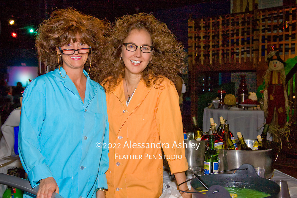 Partygoers at Mad Scientist Ball, Huntsville AL, 10/23/2009.