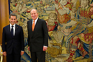 052714 King Juan Carlos attends an audience with Nicolas Sarkozy