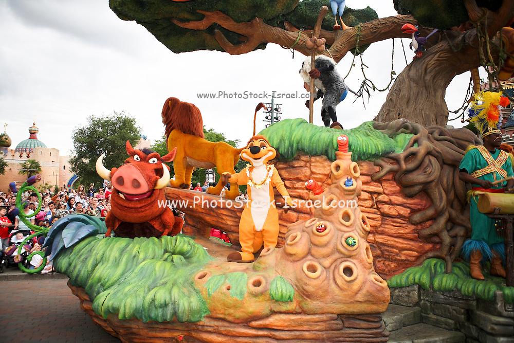 France, Paris, Euro Disney, entertainment park, Simba