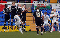 Photo: Paul Greenwood.<br />Tranmere Rovers v Swansea City. Coca Cola League 1. 10/03/2007.<br />Tranmere's Chris Shuker (No.23) bends the ball around the Swansea wall.