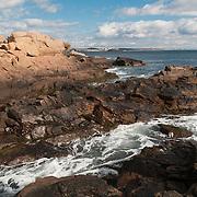 Bass Rocks on the north shore of Gloucester, Massachusetts, on Cape Ann.