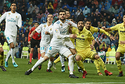 January 13, 2018 - Madrid, Spain - Nacho Fernandez (defender; Real Madrid) in action during La Liga match between Real Madrid and Villareal CF at Santiago Bernabeu on January 13, 2018 in Madrid (Credit Image: © Jack Abuin via ZUMA Wire)