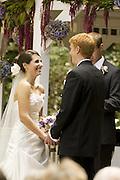 Ashlene_Lucas Wedding ceremony at the Abernathy Center
