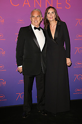 Alain Terzian and Brune de Margerie attend the Opening Gala Dinner during the 70th annual Cannes Film Festival held at Martinez Hotel in Cannes, France on May 17, 2017 as part of the 70th Cannes Film Festival. Photo by Jerome Domine/ABACAPRESS.COM