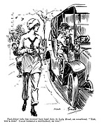 """Taxi-driver (who has received bare legal fare, to Lady Maud, on munitions). """"'Ere, wot's this? Calls yerself a gentleman, do yer?"""""""