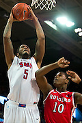 DALLAS, TX - JANUARY 21: Markus Kennedy #5 of the SMU Mustangs goes up for a dunk against the Rutgers Scarlet Knights on January 21, 2014 at Moody Coliseum in Dallas, Texas.  (Photo by Cooper Neill/Getty Images) *** Local Caption *** Markus Kennedy