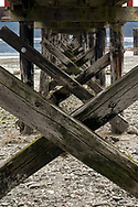 The Fernwood Dock and the rocky beach near Fernwood Point on Salt Spring Island, British Columbia, Canada.